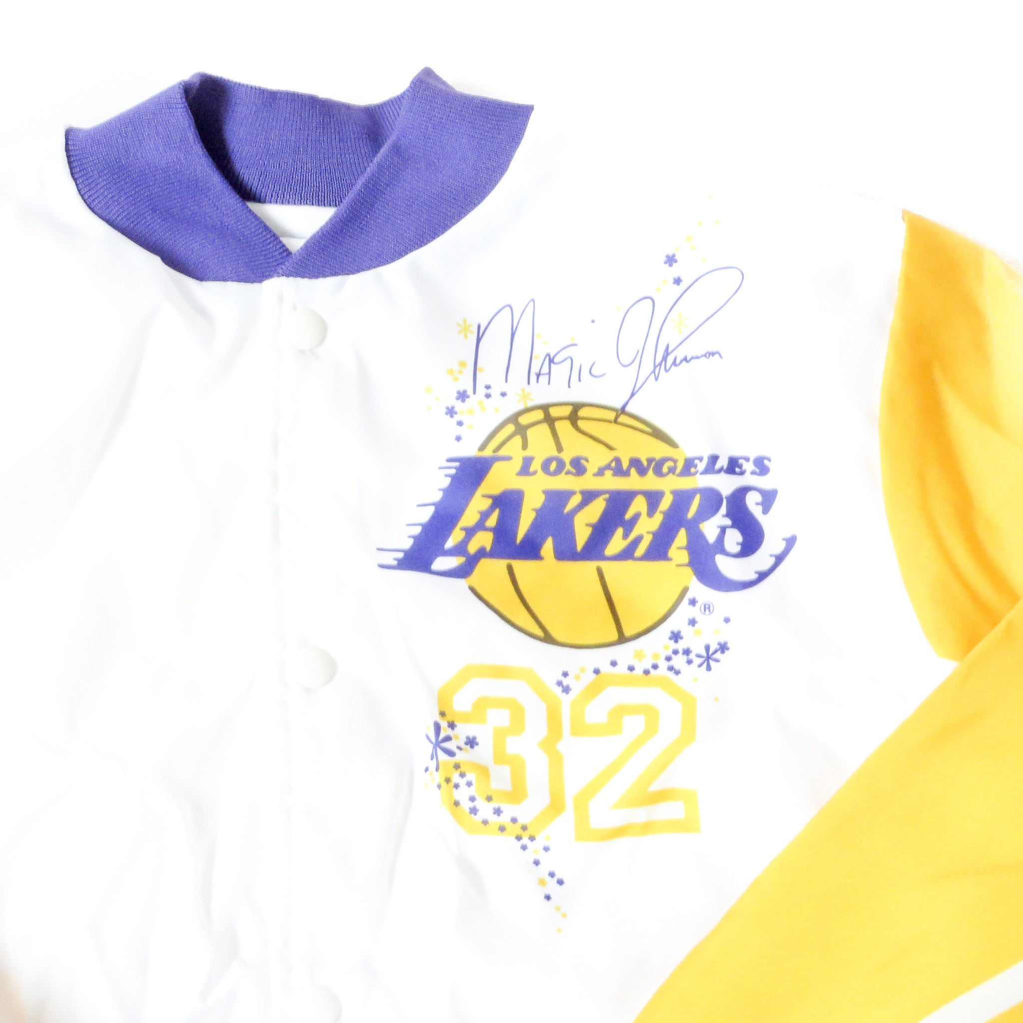 Vintage Magic Johnson Lakers Chalk Line Jacket Sz M