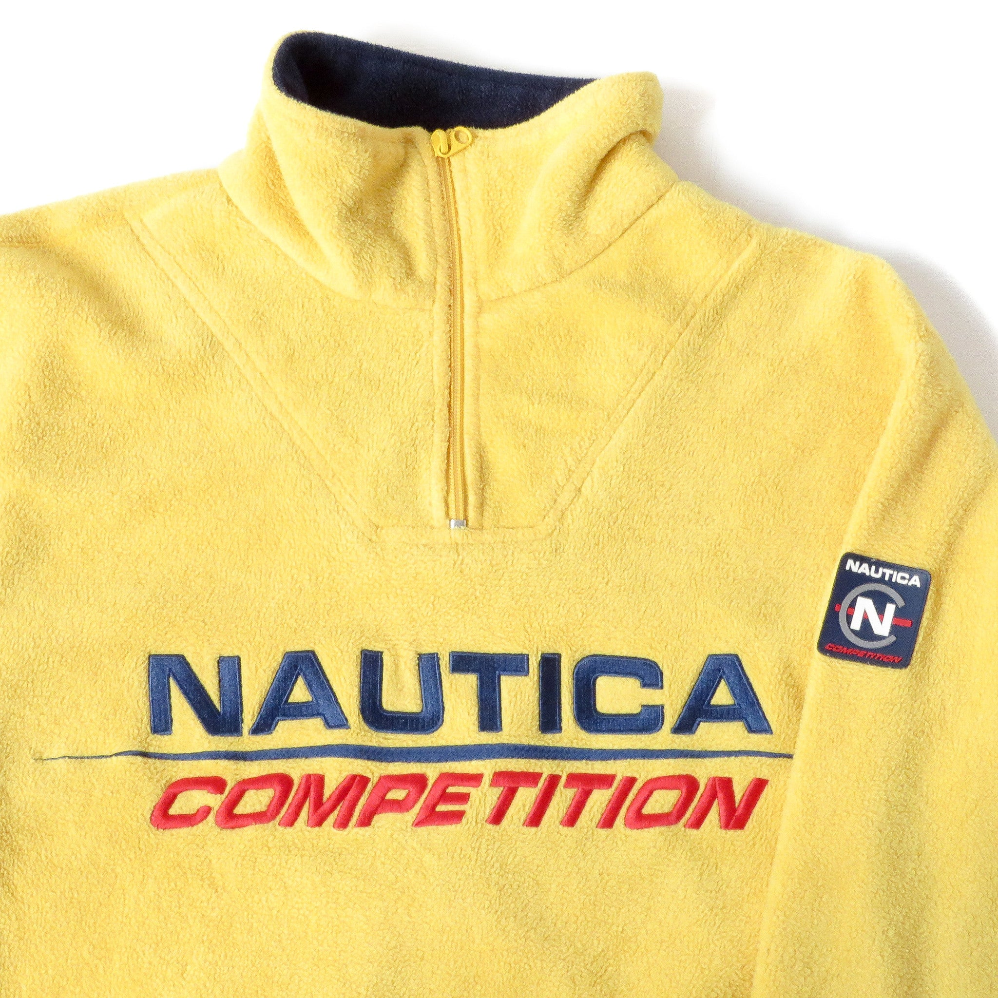 Vintage Nautica Competition Fleece Pullover Jacket Sz S