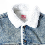 Vintage Levi's Sherpa Lined Denim Jacket Sz XL