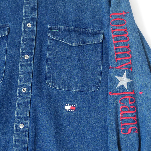 Vintage Tommy Hilfiger Denim Button Down Shirt Sz S