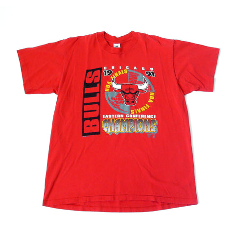 Vintage Chicago Bulls 1991 Eastern Conference Champions T-Shirt Sz XL