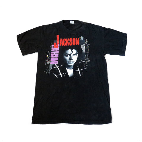 Vintage Michael Jackson 1988 Europe Bad Tour T-Shirt Sz XL