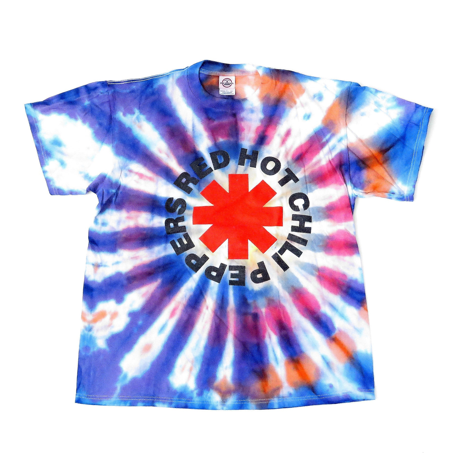 Red Hot Chili Peppers Tie-Dye By The Way Tour T-Shirt Sz L