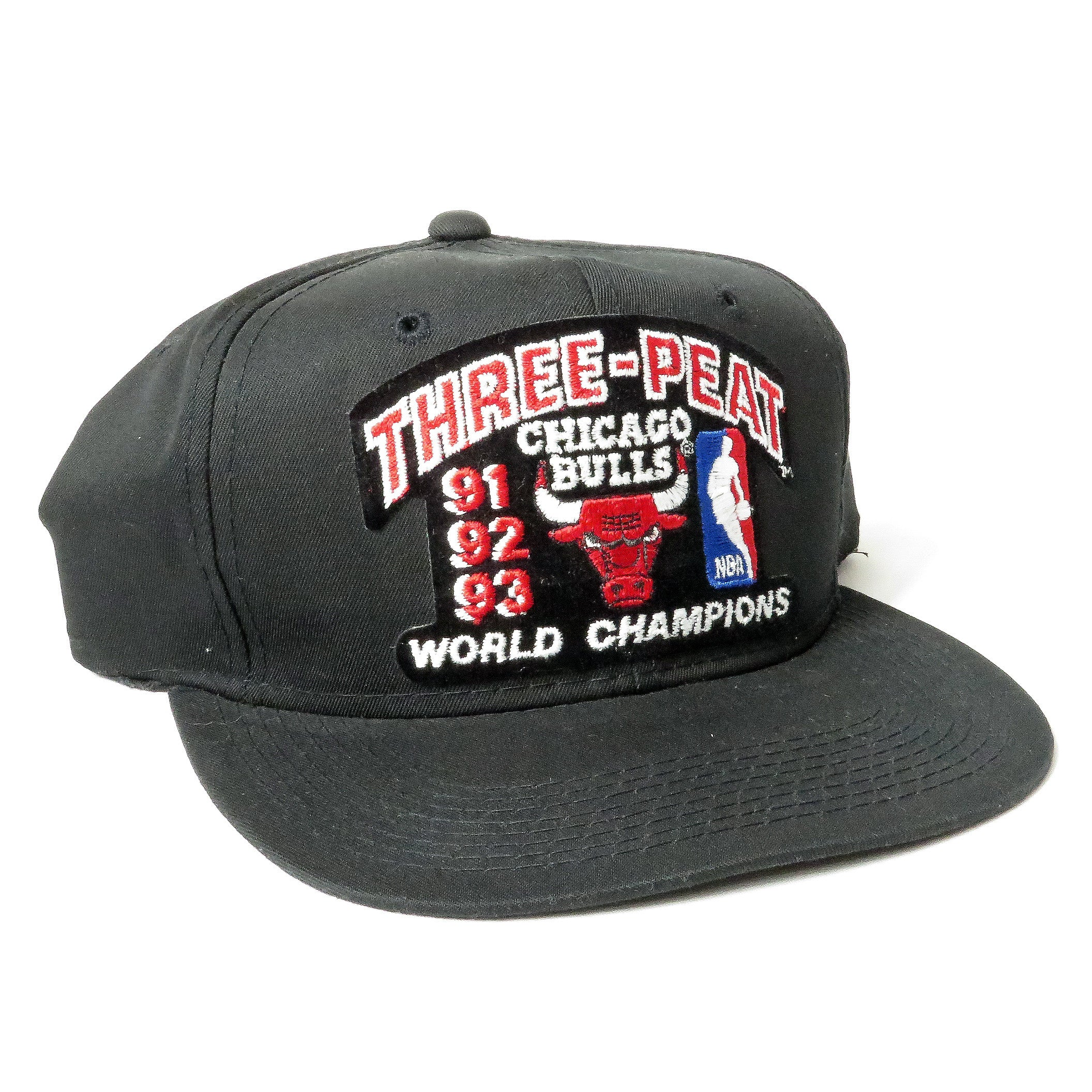Vintage Chicago Bulls Three Peat World Champions Snapback Hat