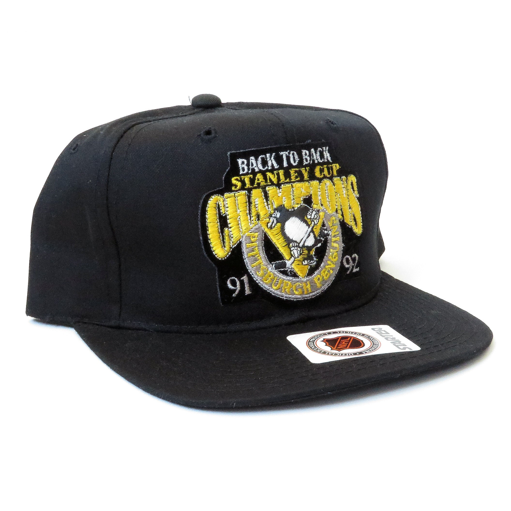 Vintage Pittsburgh Penguins Back To Back Snapback Hat