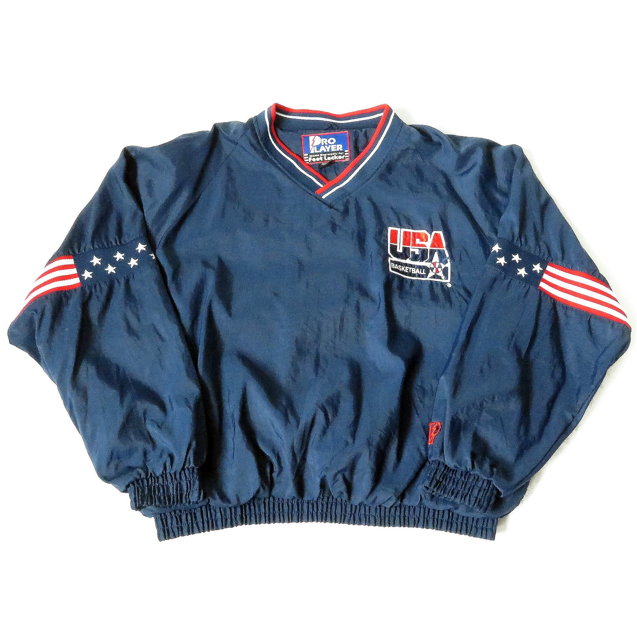 Vintage USA Basketball Pro Player Pullover Jacket Sz 2XL