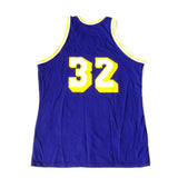 Vintage Magic Johnson Los Angeles Lakers Sand Knit Jersey Sz L