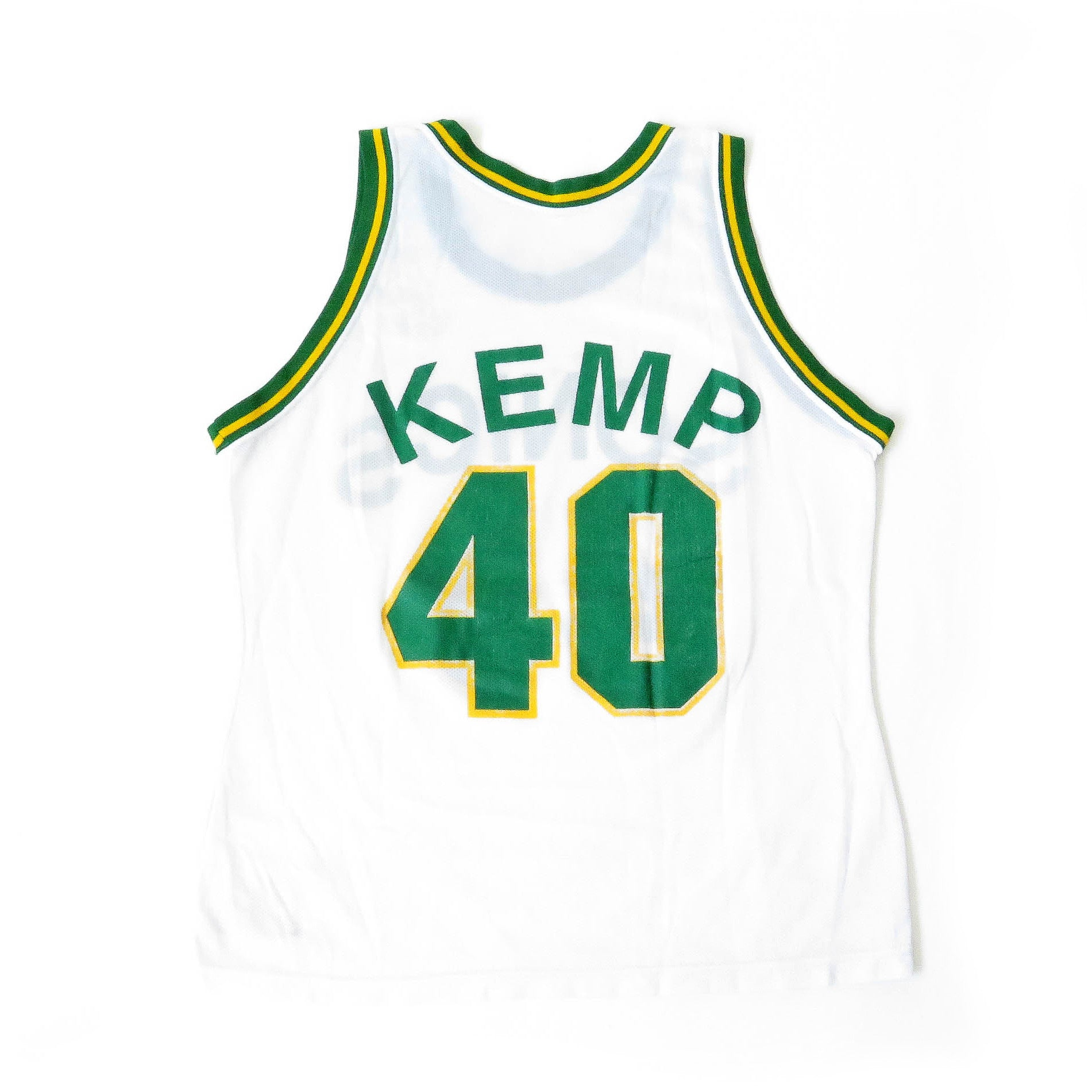 Vintage Shawn Kemp Seattle SuperSonics Champion Jersey Sz 44