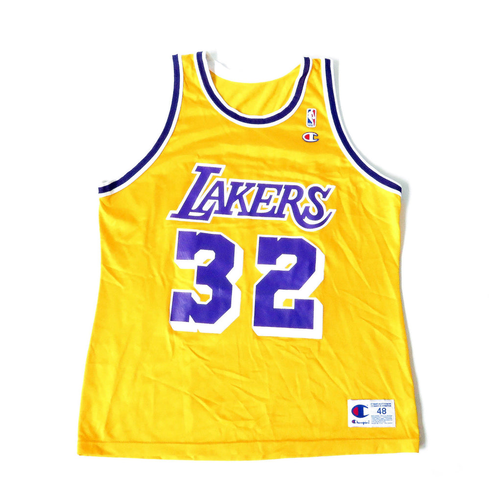 Vintage Magic Johnson Los Angeles Lakers Champion Jersey Sz 48