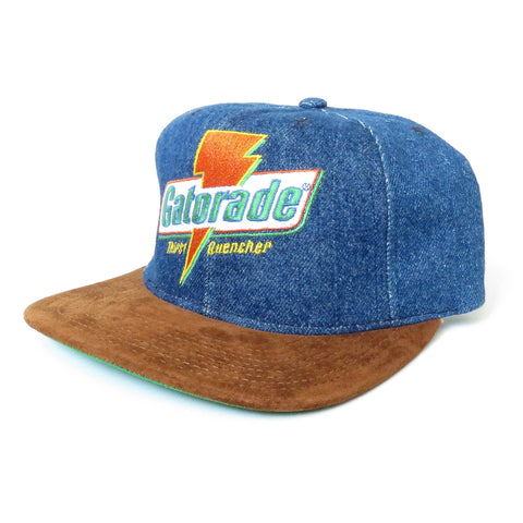 the latest cd128 3d23b ... Vintage Gatorade Denim Snapback Hat ...