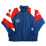 Vintage Starter USA Olympics Windbreaker Jacket Sz XL