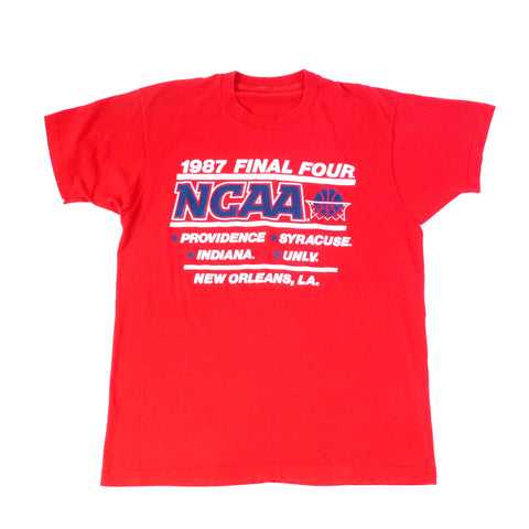 Vintage 1987 NCAA Basketball Final Four T-Shirt Sz M