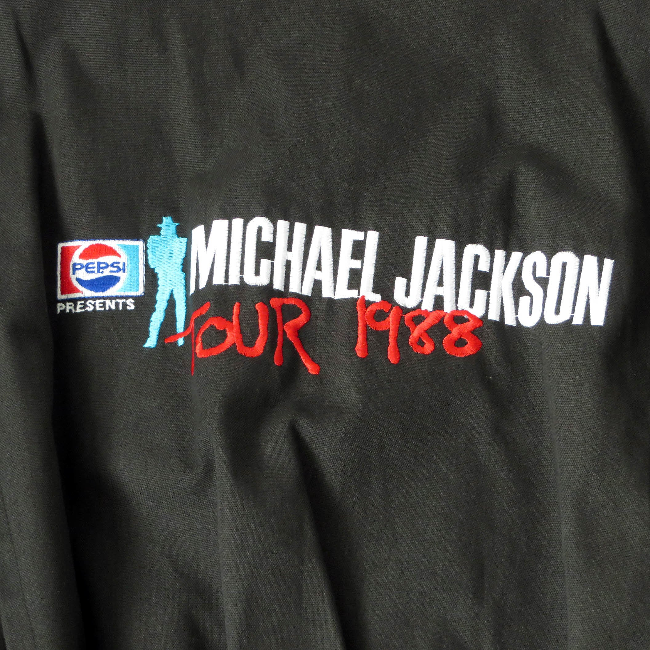 Vintage 1988 Michael Jackson Bad Tour Crew Jacket Sz M