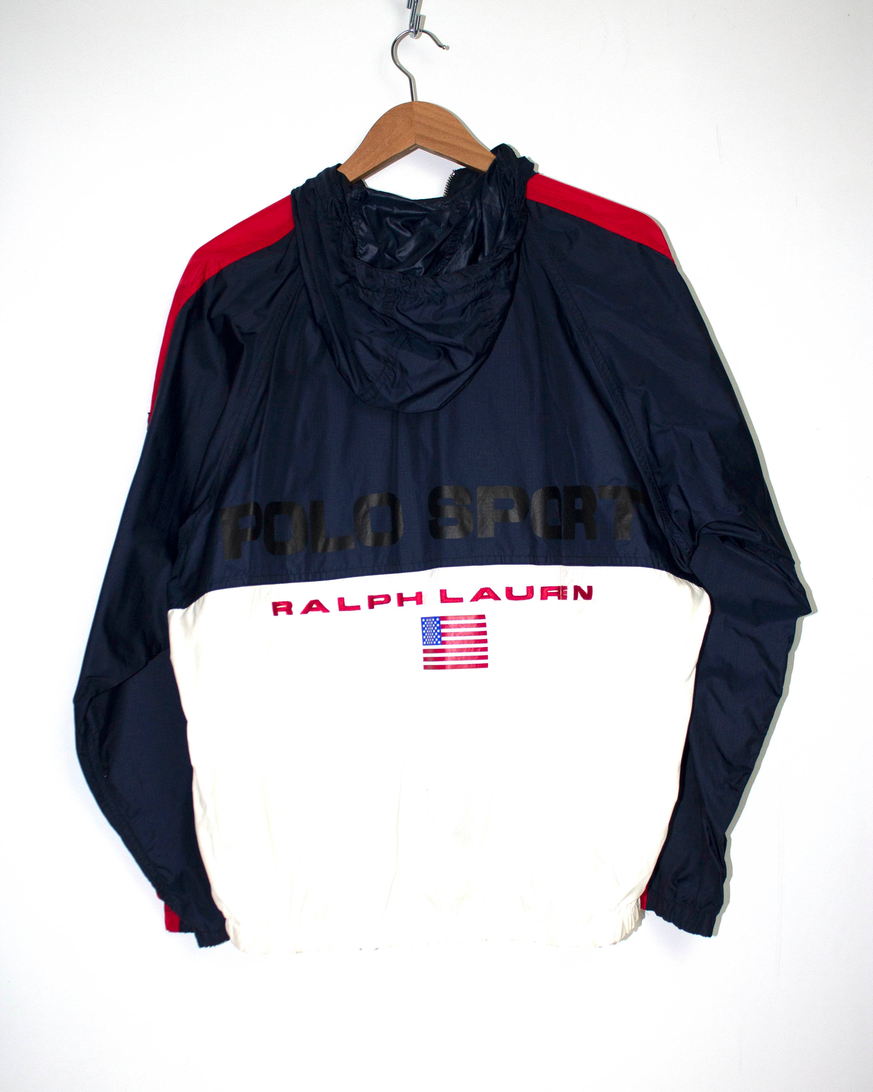 Vintage Ralph Lauren Polo Sport Hooded Windbreaker Jacket Sz S