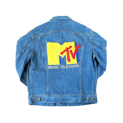 Vintage 1980's MTV Denim Jacket Sz L