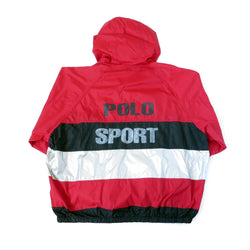Vintage Ralph Lauren Polo Sport Hooded Windbreaker Jacket Sz XL