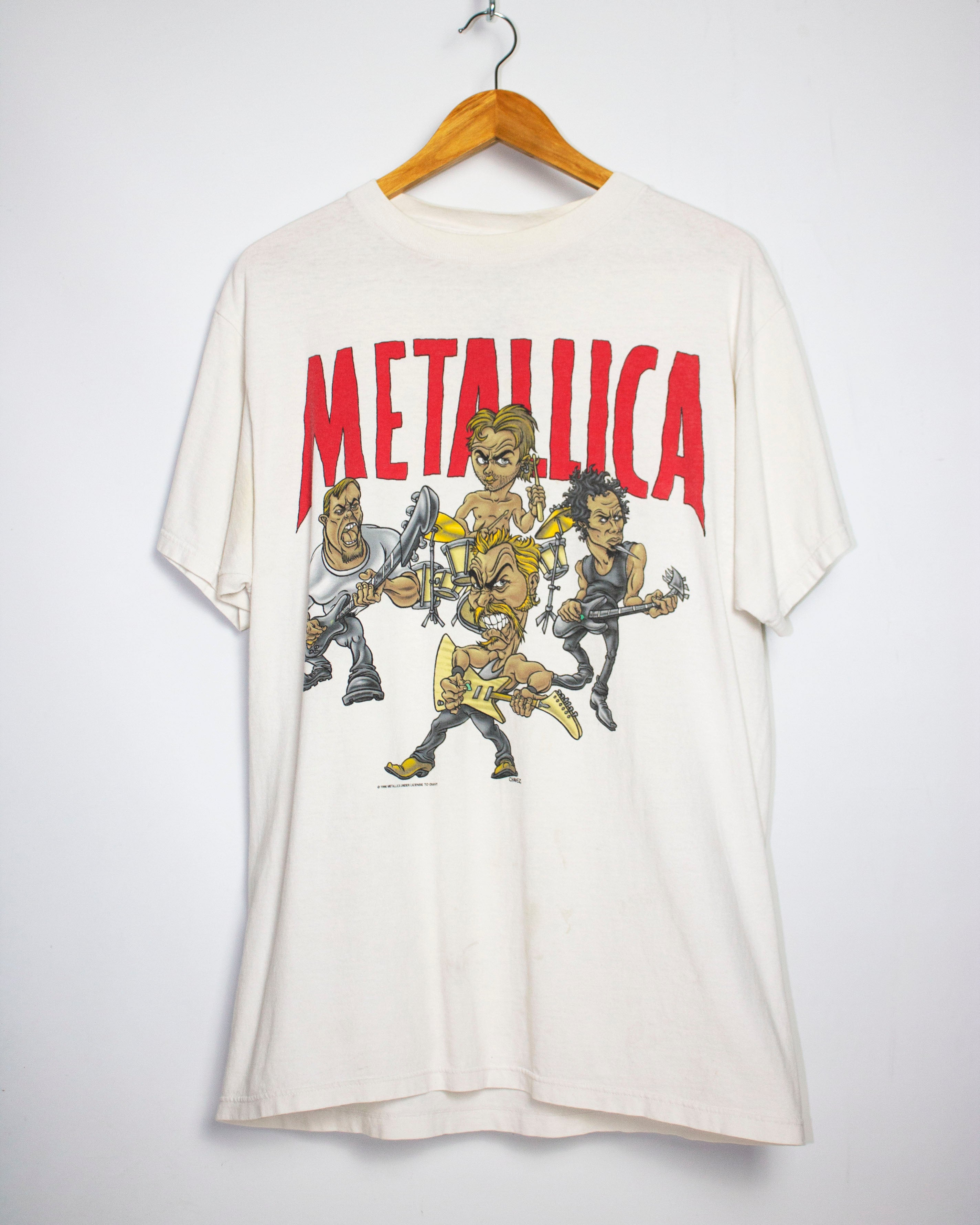 Vintage 1996 Metallica Poor Touring Me Tour T-Shirt Sz L