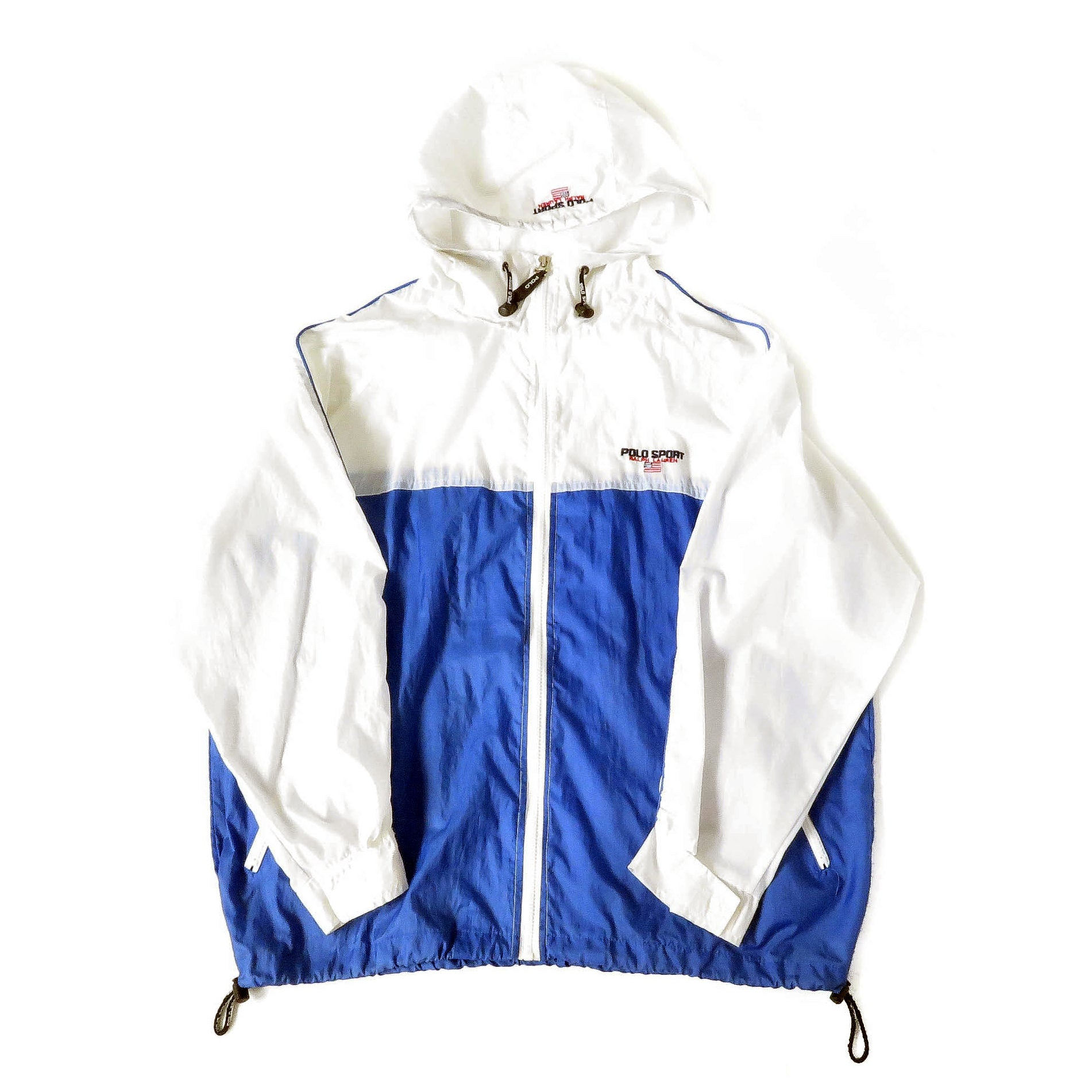Vintage Ralph Lauren Polo Sport Hooded Windbreaker Jacket Sz L