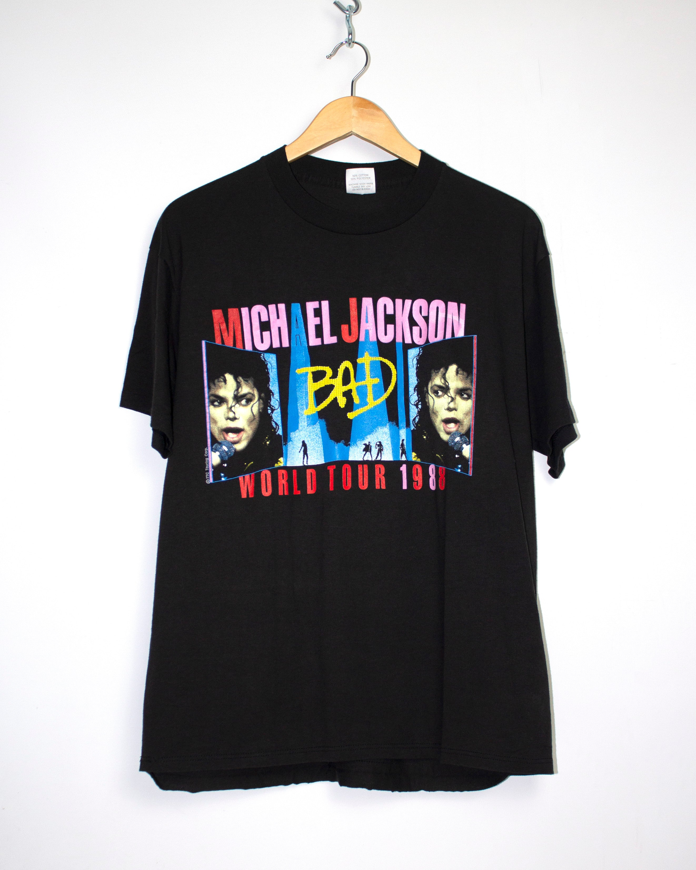 Vintage Michael Jackson 1988 US Bad Tour T-Shirt Sz XL