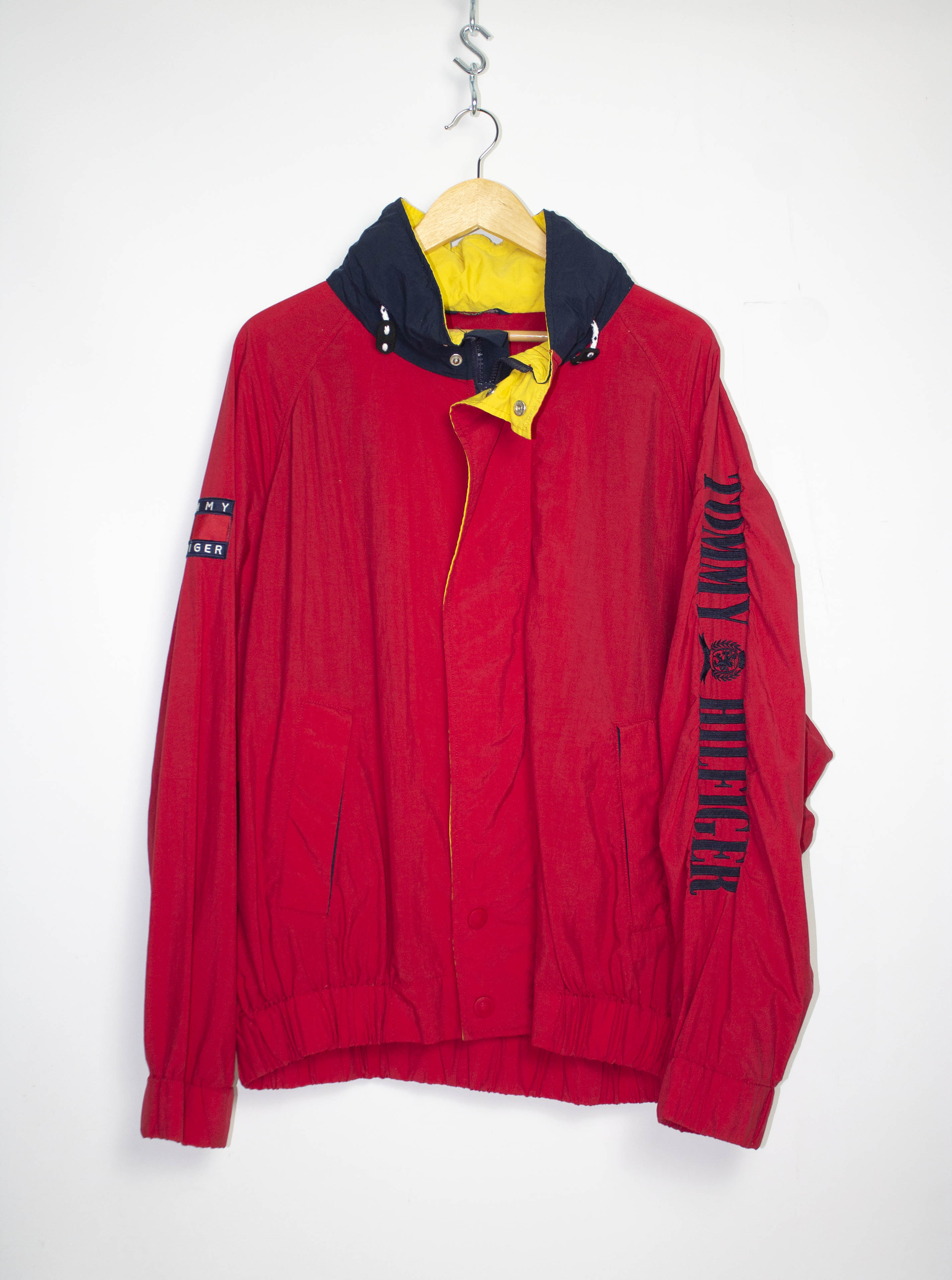 Vintage Tommy Hilfiger Hooded Jacket Sz XL