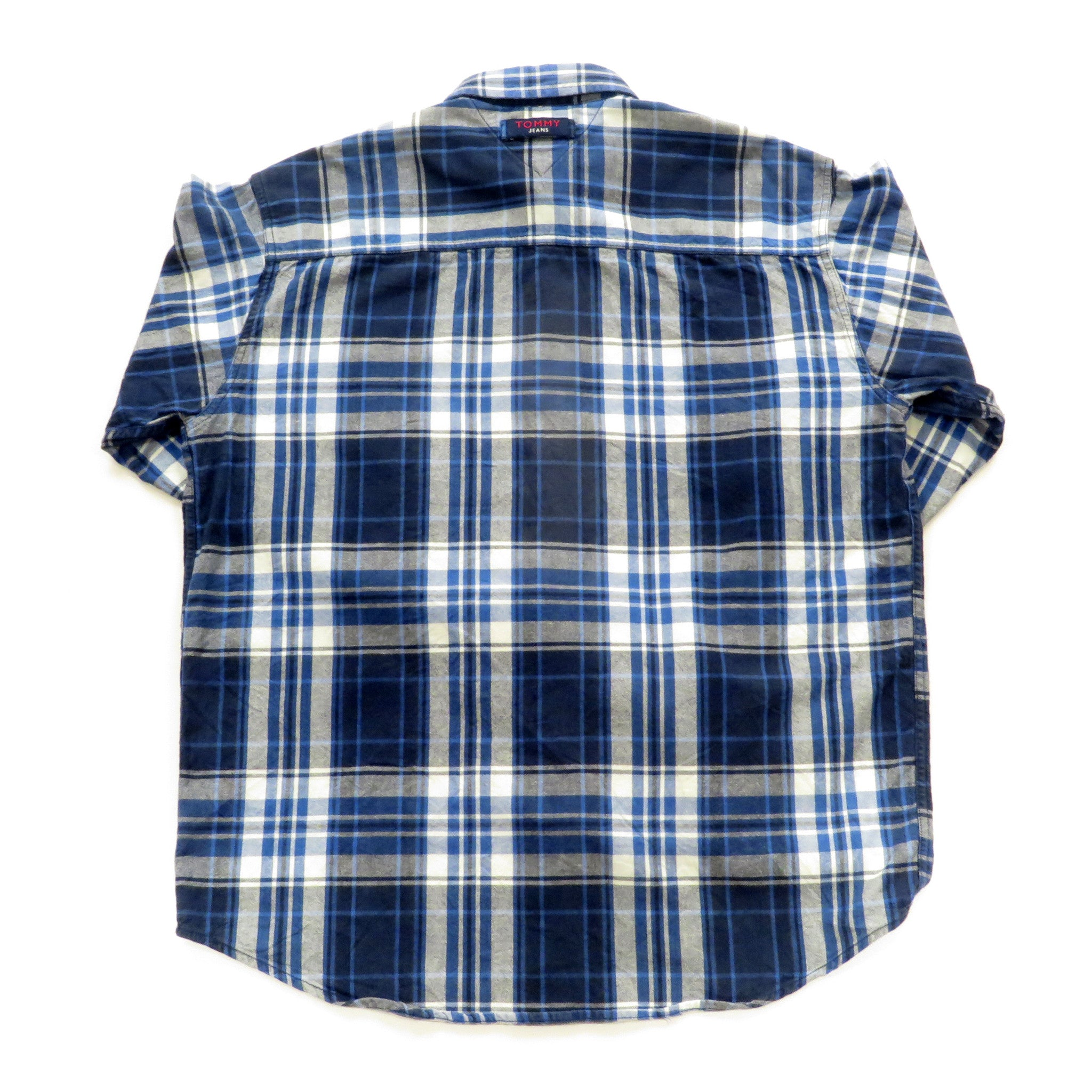Tommy Hilfiger Tommy Jeans Plaid Button Down Shirt Sz M