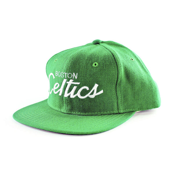 Boston Celtics Script Sports Specialties Snapback Hat