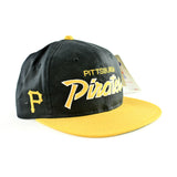 Pittsburgh Pirates Script Sports Specialties Snapback Hat