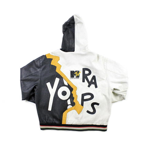 Vintage Yo! MTV Raps Leather Jacket Sz L