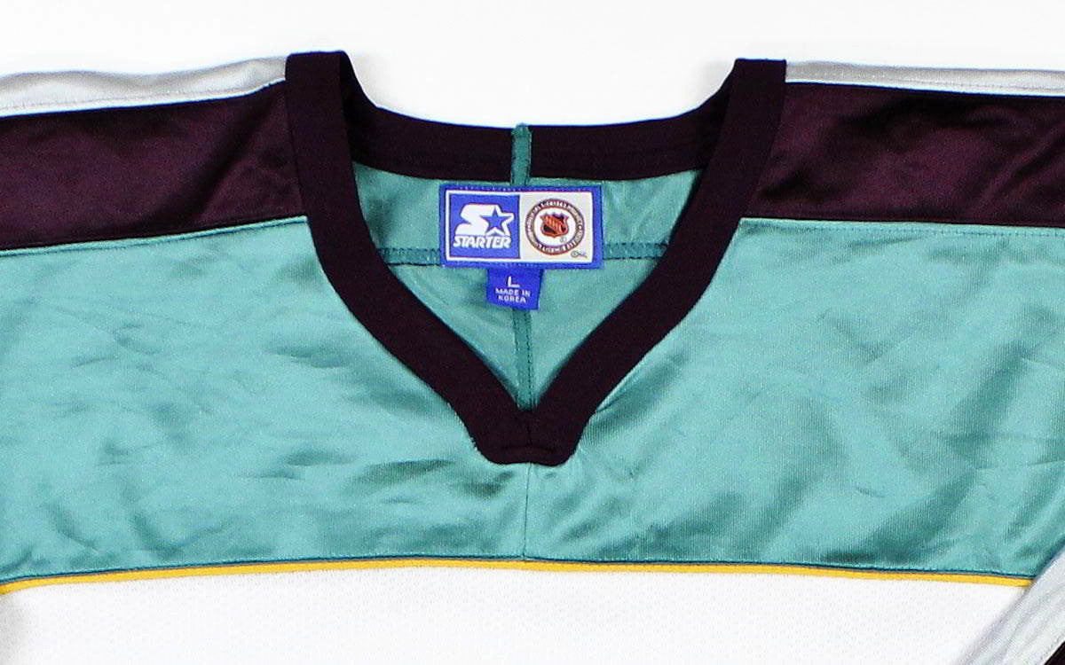Vintage Anaheim Mighty Ducks Starter Hockey Jersey Sz L