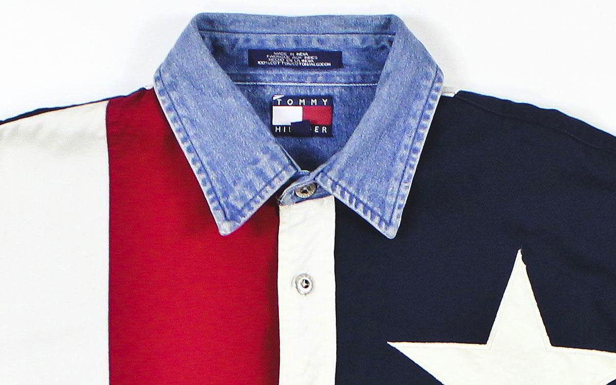 Tommy Hilfiger Flag Button Down Shirt Sz M