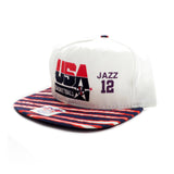 USA Basketball Stockton 12 Jazz Zubaz Snapback Hat