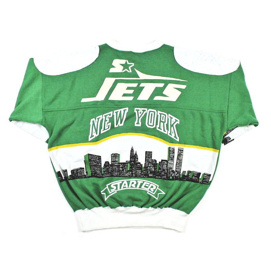 Starter New York Jets Crewneck Sweatshirt Sz L