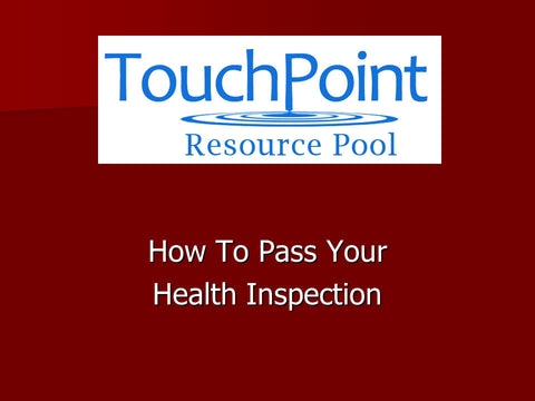 How to Pass Your Health Inspection (1 CEU)