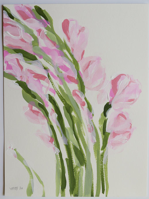 Blush Gladiolus, No. 1 - 9x12
