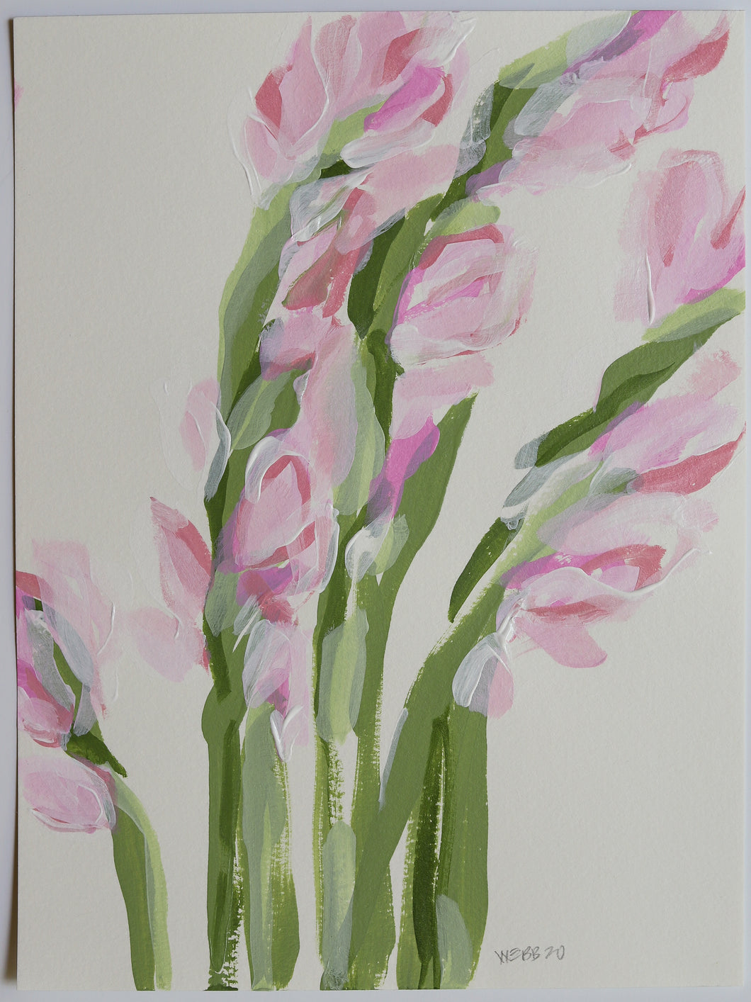 Blush Gladiolus, No. 4 - 9x12