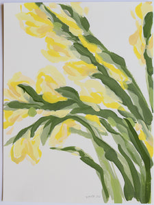 "Yellow Gladiolus, No. 2 - 9x12"" Paper"