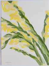"Load image into Gallery viewer, Yellow Gladiolus, No. 3 - 9x12"" Paper"