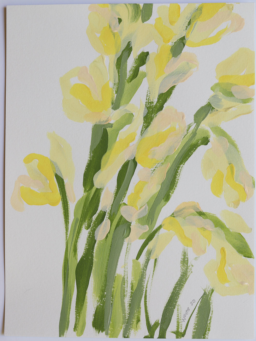 Yellow Gladiolus, No. 4 - 9x12