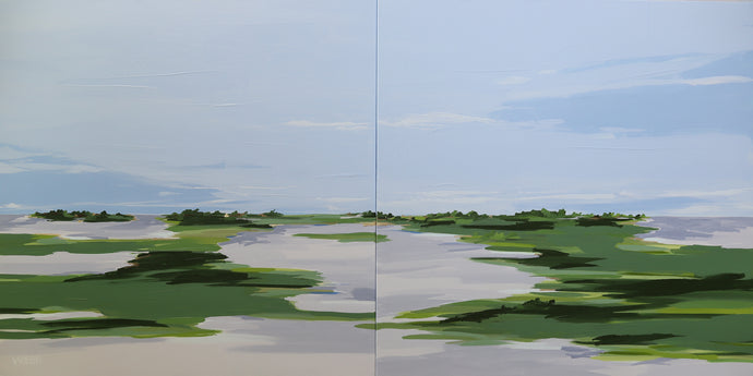 Calm and Collected, Diptych / 36x72