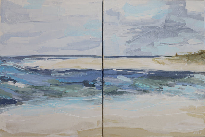 Make Waves Diptych / 16x24