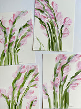 "Load image into Gallery viewer, Blush Gladiolus, No. 4 - 9x12"" Paper"