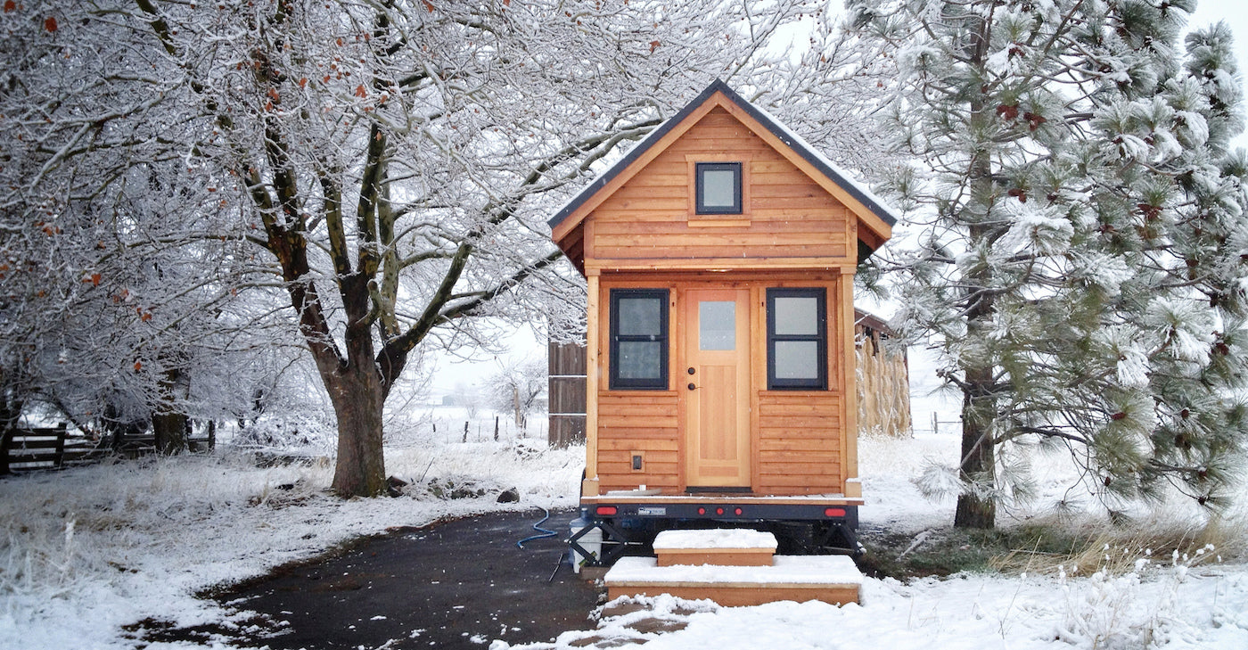 Tiny house winter water heater