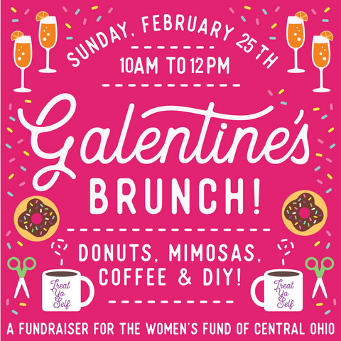 galentine brunch womens fund columbus ohio donuts mimosas