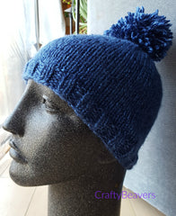Pom Pom Hat! (Intermediate Level Knitting)