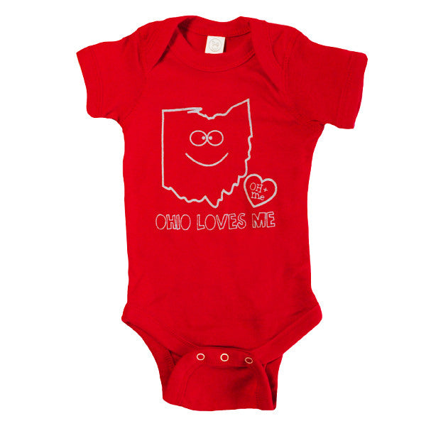 Ohio Loves Me Onesie
