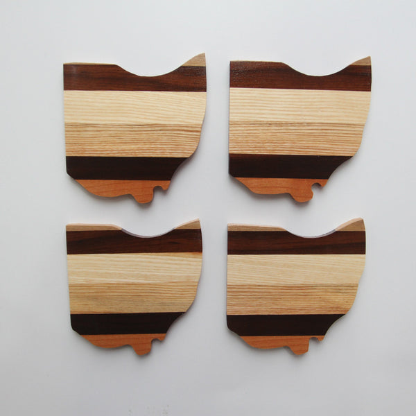 Wood Ohio Coasters