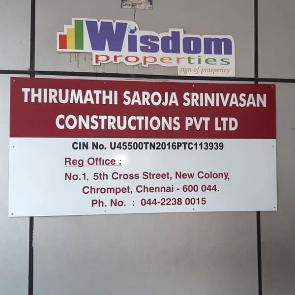 Vinyl Signs Boards Manufacturers in Chennai