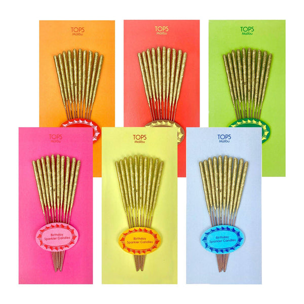 Mini Birthday Sparkler Candles Asst. Color