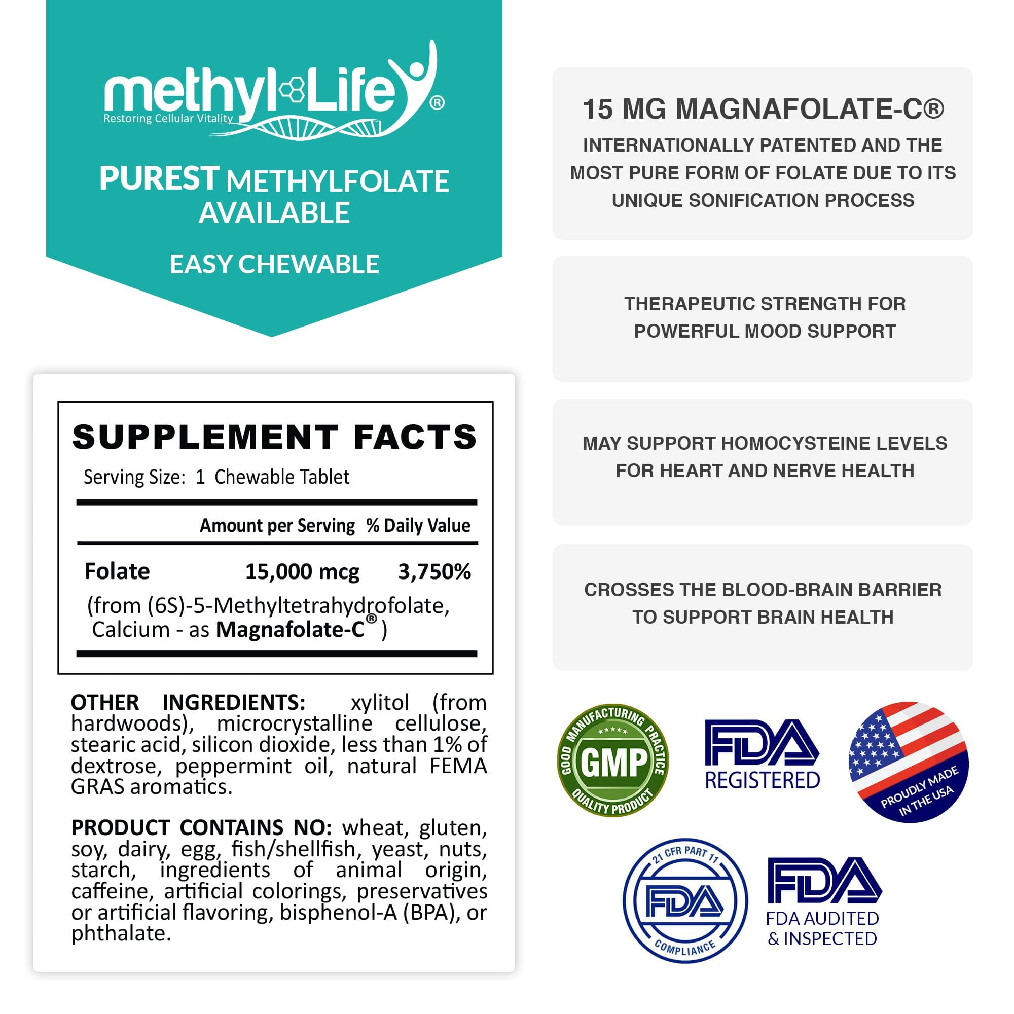 l-methylfolate 15 mg supplement facts