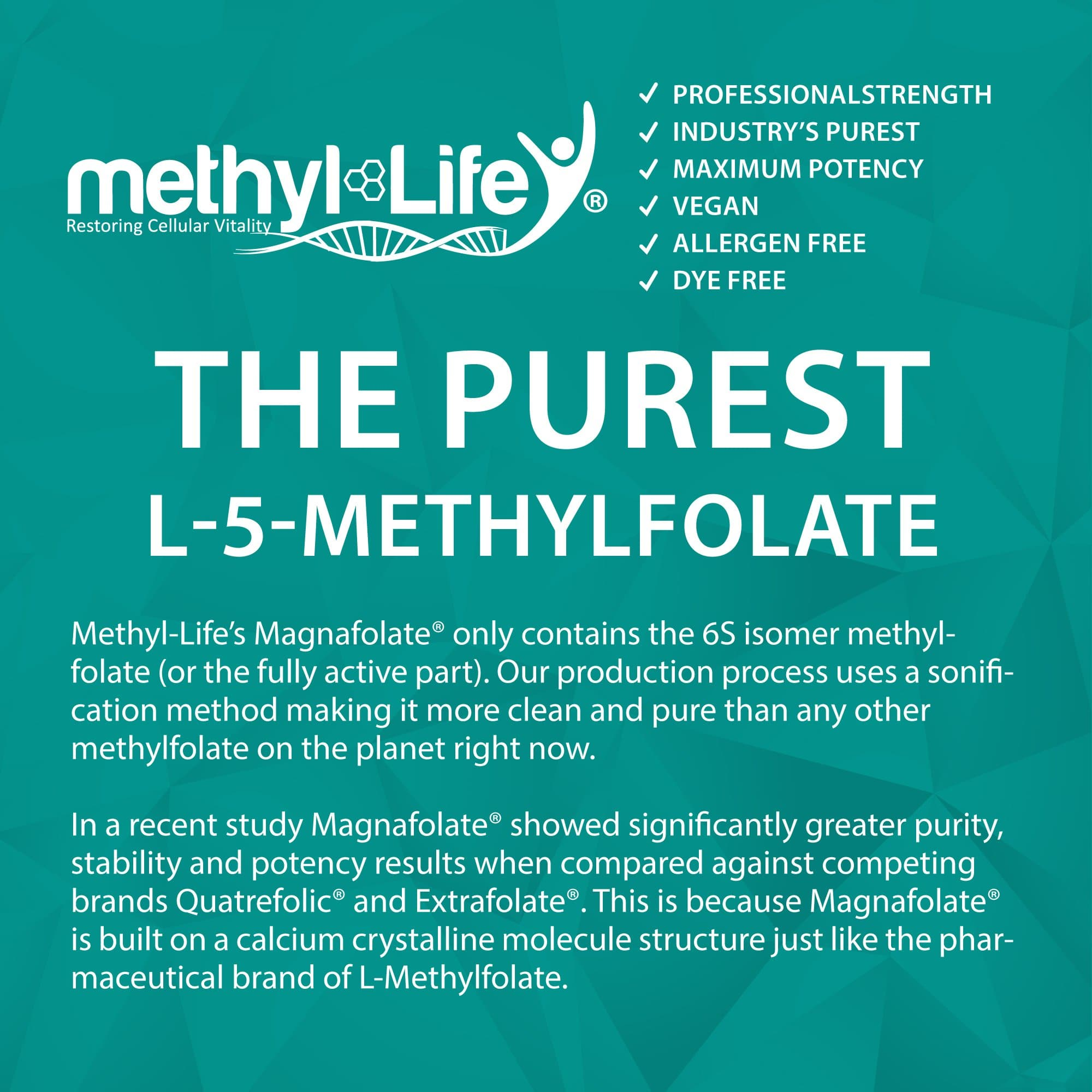 l-methylfolate 15 mg (the purest l-5-methylfolate)